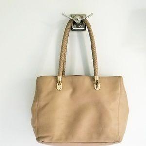 Cole Haan tan pebble finish leather purse bag